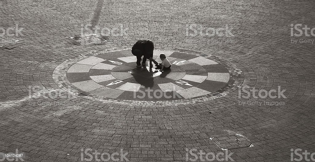 Next generation is centre of the world - Compass Rose royalty-free stock photo
