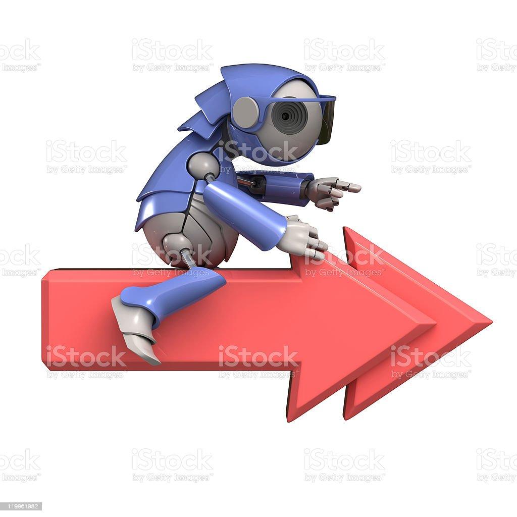 Next icon and robot stock photo