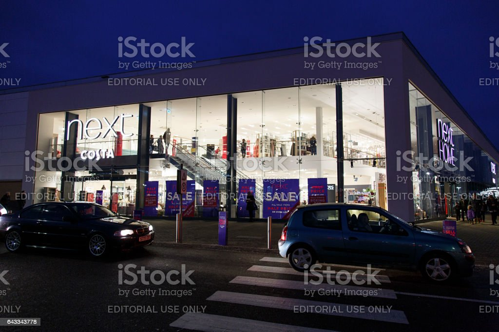 Next - Late Opening stock photo