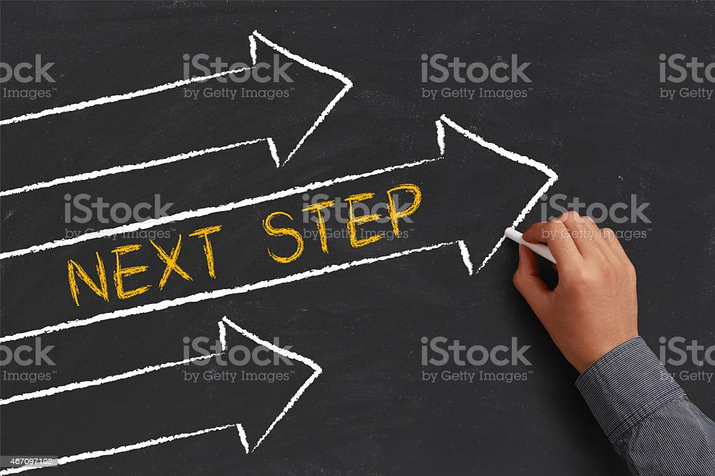 Next Step Concept stock photo