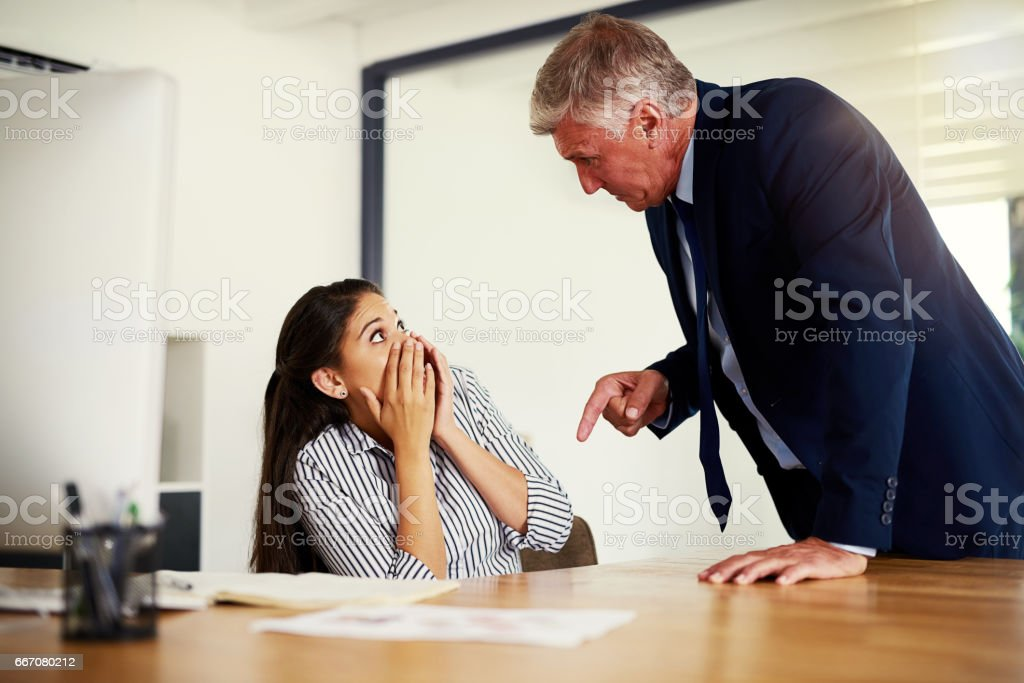 Next time you mess up, you're out! stock photo