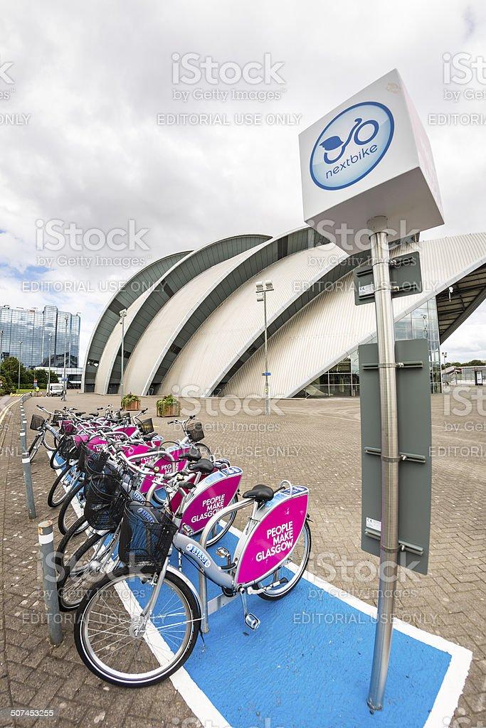 Nextbike Bicycle Rental, Glasgow stock photo