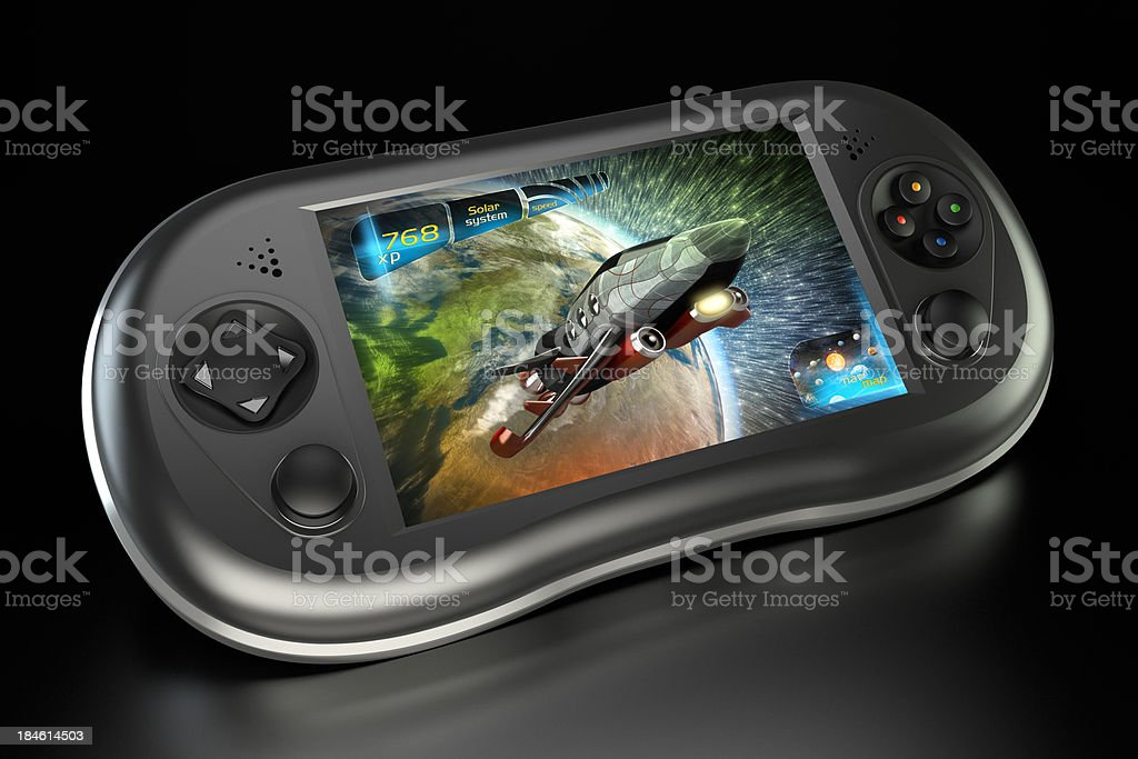 Next-gen handheld game console royalty-free stock photo