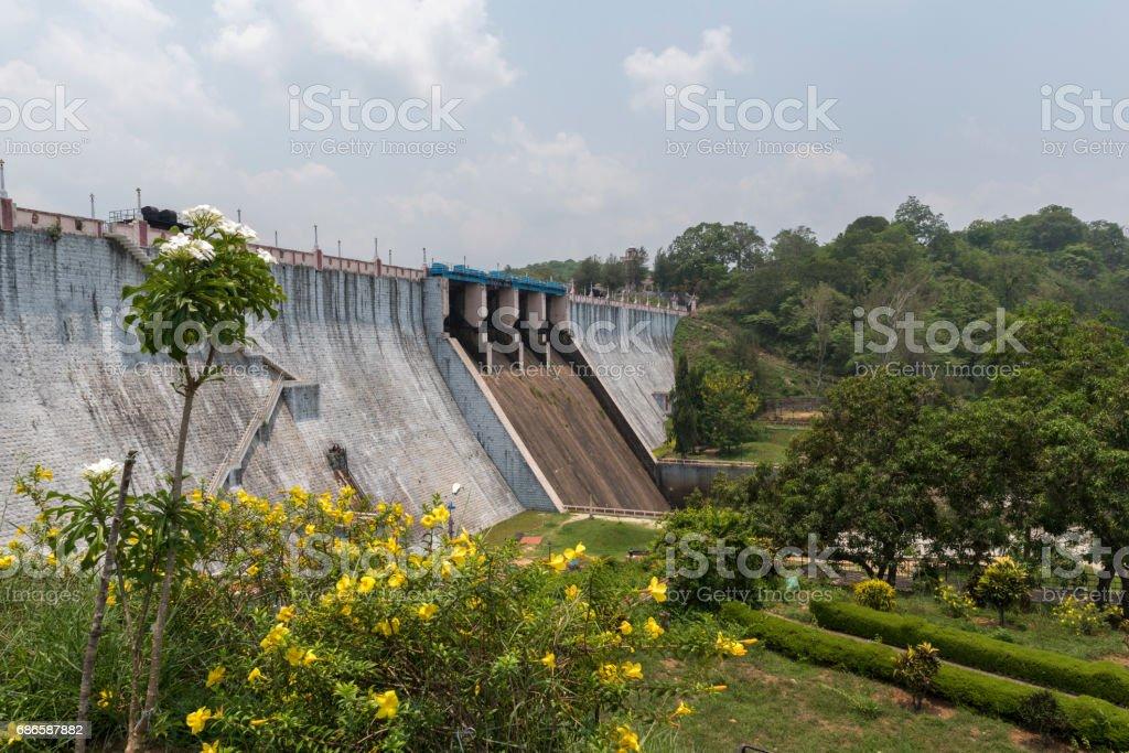 Neyyar Dam, Kerala, Indian foto de stock libre de derechos