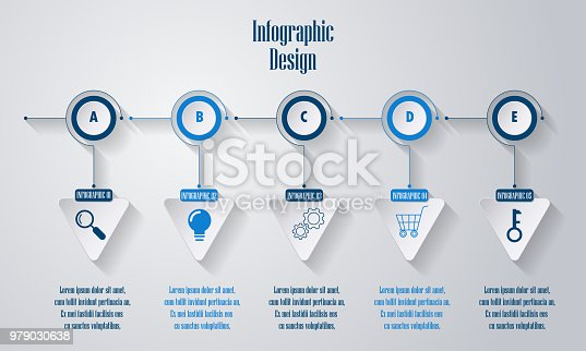 istock nfographics timeline design template. Blank space for content, business diagram flowchart and timeline process 979030638