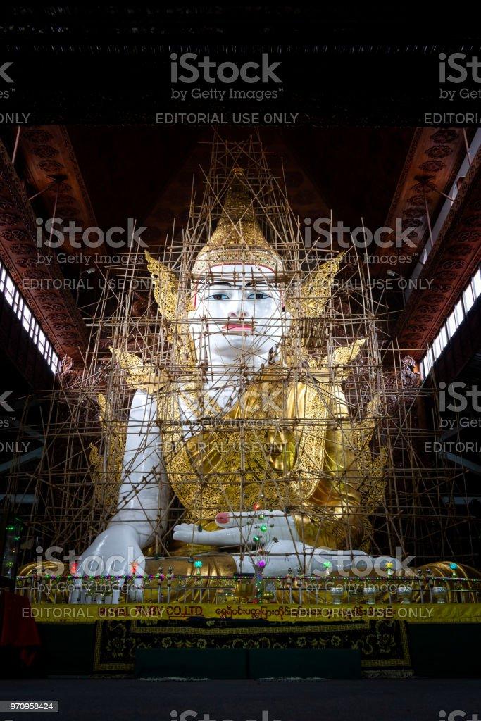 Nga Htat Gyi Buddha image, Yangon, Myanmar. stock photo