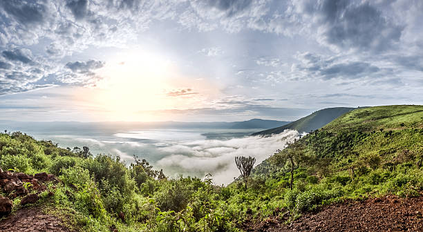 Ngorongoro Crater Conservation Area, Tanzania stock photo