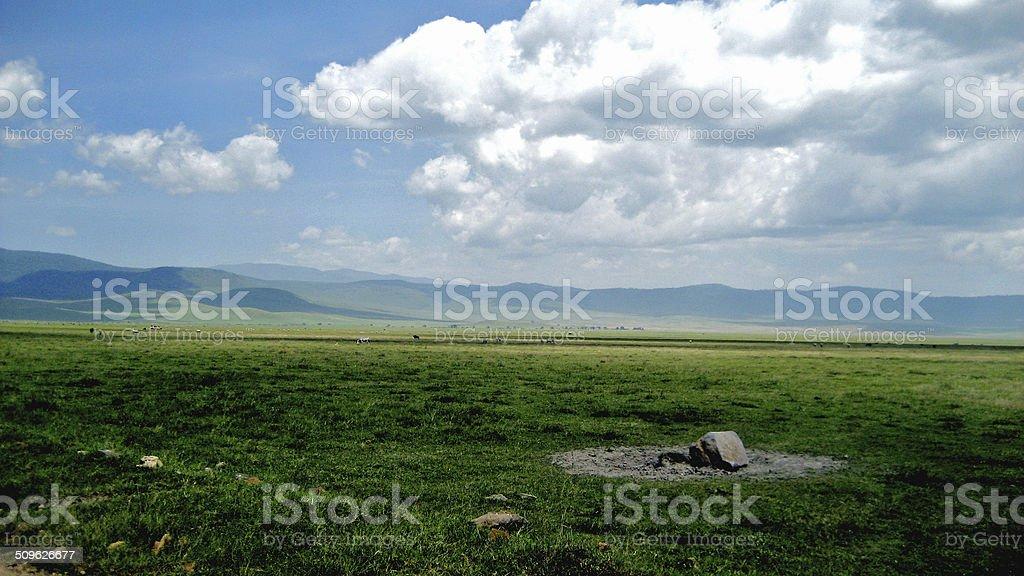 Ngorongoro Crater landscape stock photo