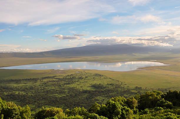 Ngorongoro Crater View over Ngorongoro Crater, Tanzania, East Africa (UNESCO World Heritage Site) ngorongoro conservation area stock pictures, royalty-free photos & images
