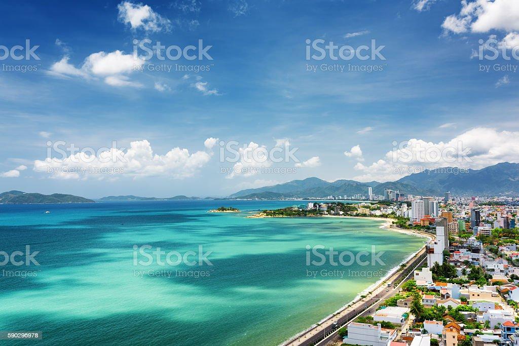 Nha Trang Bay with beautiful colors of water in Vietnam Стоковые фото Стоковая фотография