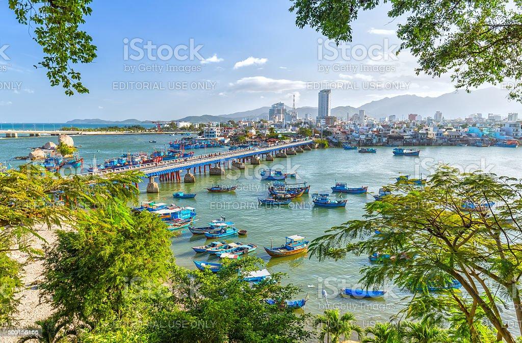 Nha Trang Boating spring afternoon stock photo