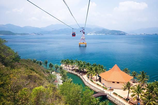 Nha Trang cable car, Vietnam stock photo