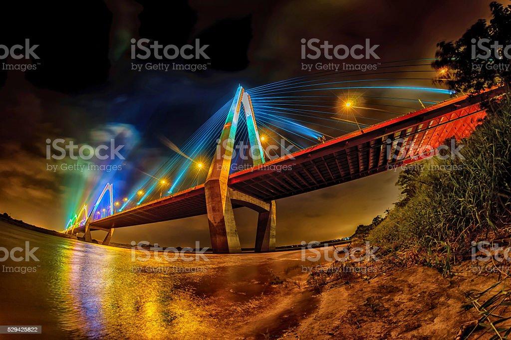 Nhat Tan Bridge, Hanoi, Vietnam stock photo