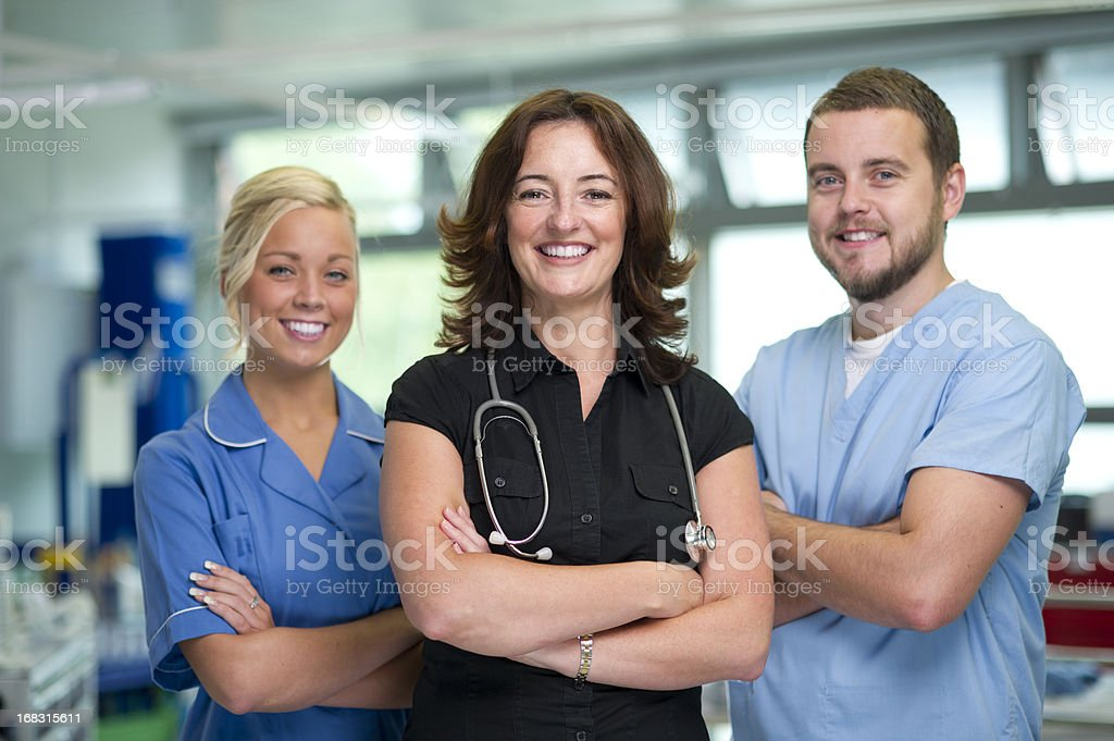nhs medical team royalty-free stock photo