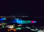 Niagara Falls at Night under lights