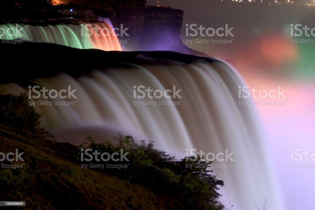 Niagara at Night royalty-free stock photo
