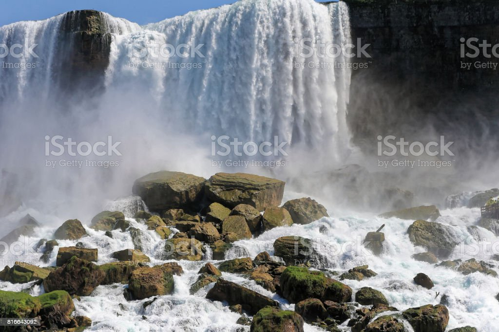 Niagara fall at lower water level stock photo