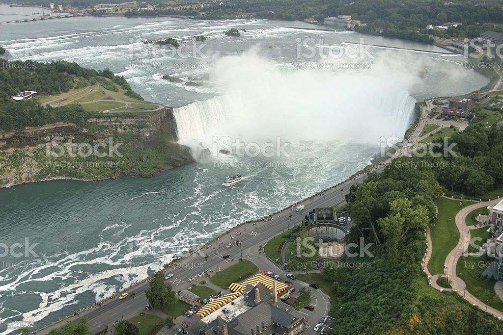 Niagara Falls Aerial royalty-free stock photo