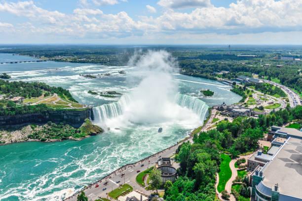 Niagara Falls aerial view stock photo
