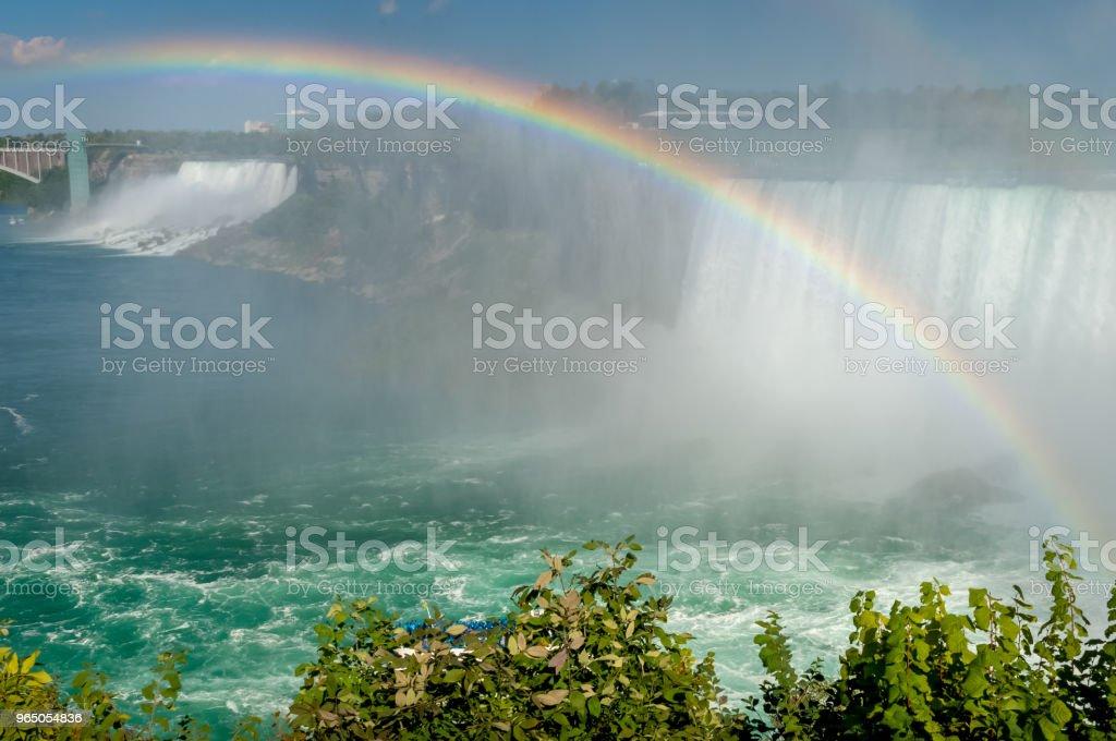 Niagara Falls and Rainbow zbiór zdjęć royalty-free
