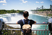 Enjoying beautiful view to Niagara Fall