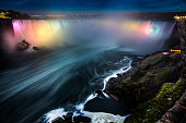 Niagara Falls at night - Canada - North America.