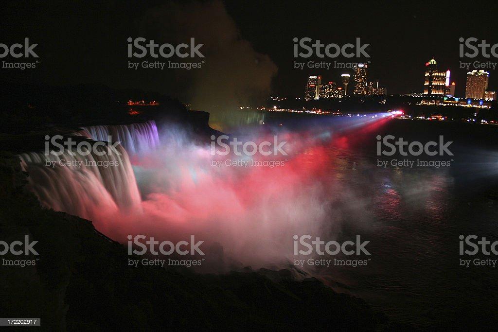 Niagara Falls at Night royalty-free stock photo