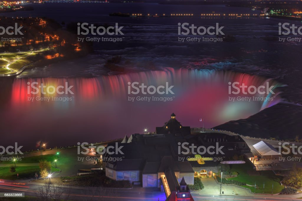 Niagara Falls at night. royalty-free stock photo
