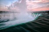 Niagara Falls at sunset, Toronto, Canada