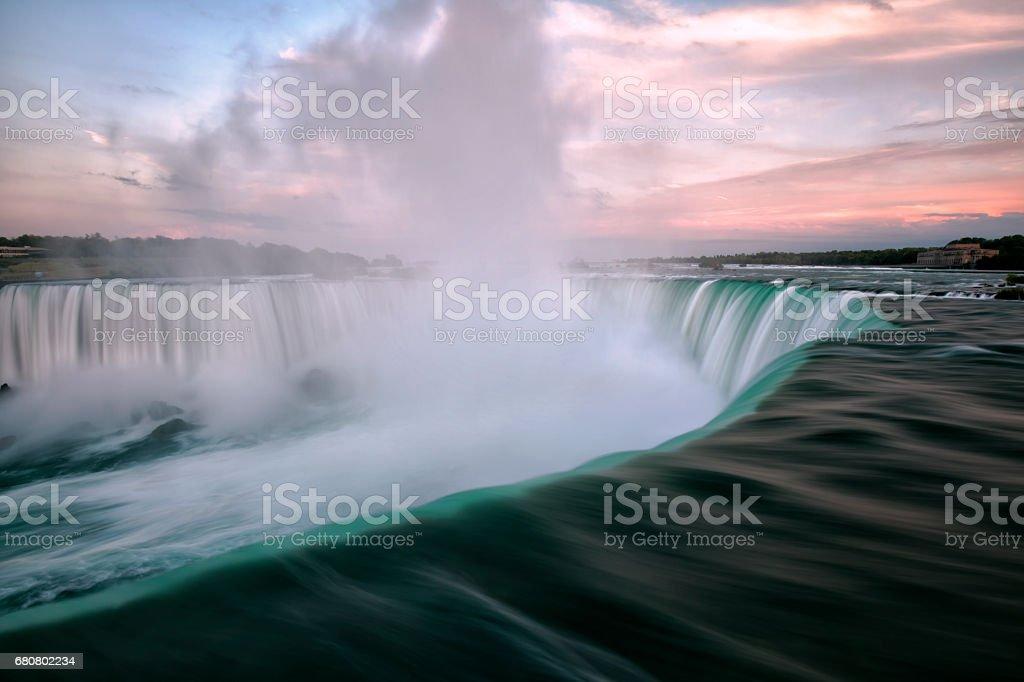 Niagara Falls at sunset, Toronto, Canada stock photo
