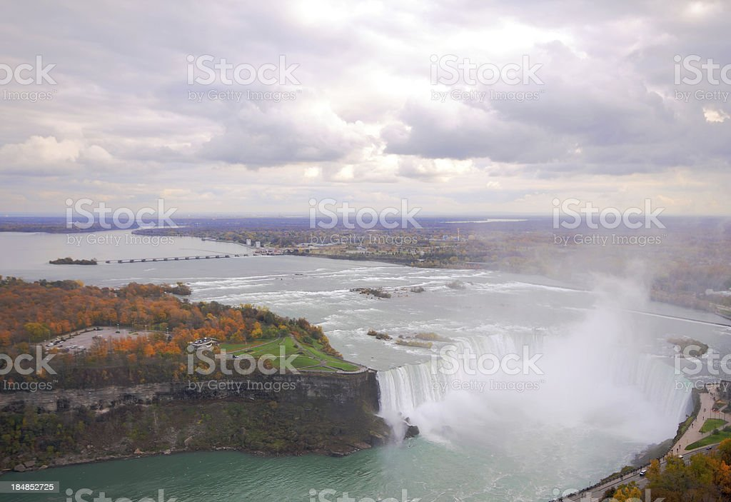 Niagara Falls Autumn Landscape stock photo