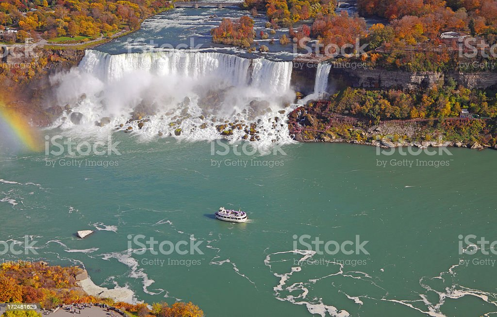 Niagara Falls Autumn stock photo
