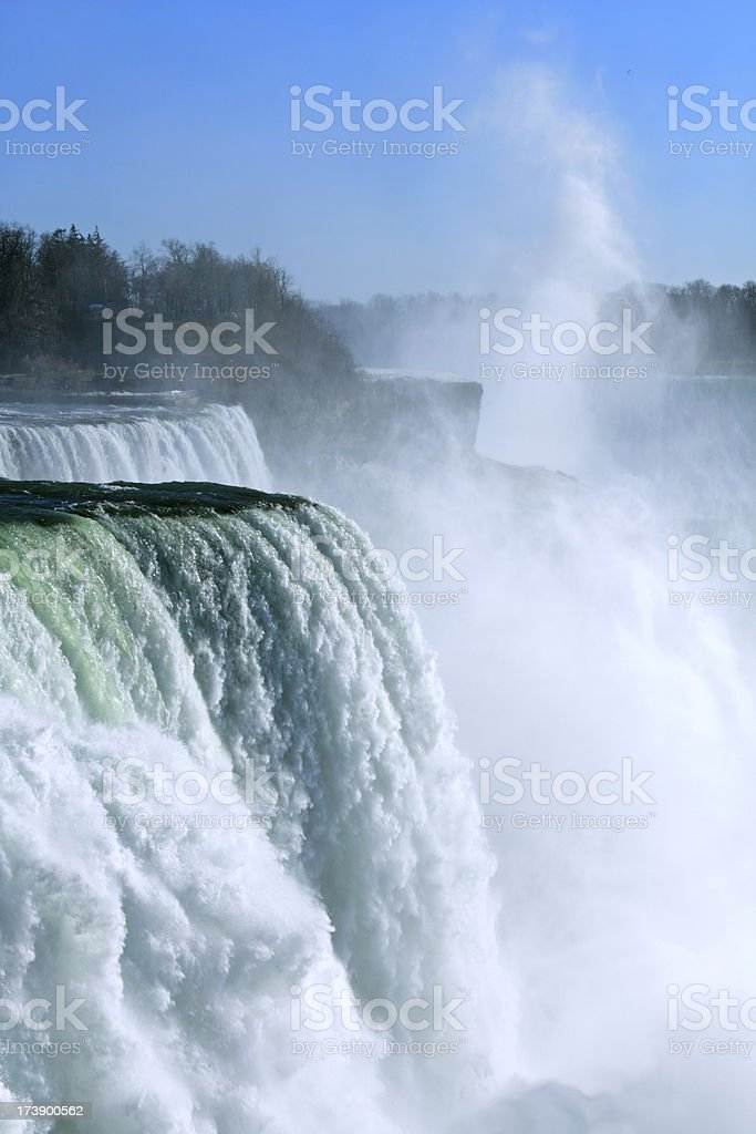 Niagara Falls from American Side royalty-free stock photo