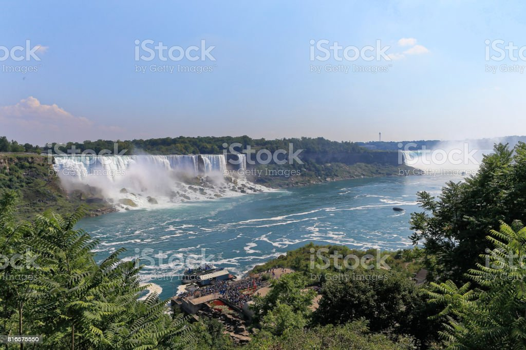 Niagara falls from Canada side stock photo