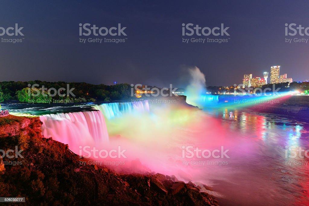 Niagara Falls in colors stock photo