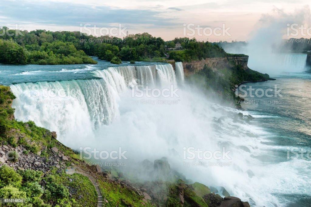 Niagara Falls in daylight stock photo