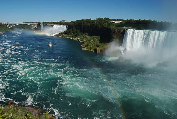 Niagara Falls in September Niagara Falls on a beautiful  September day rainbow bridge ontario stock pictures, royalty-free photos & images