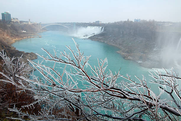 Niagara Falls in winter stock photo