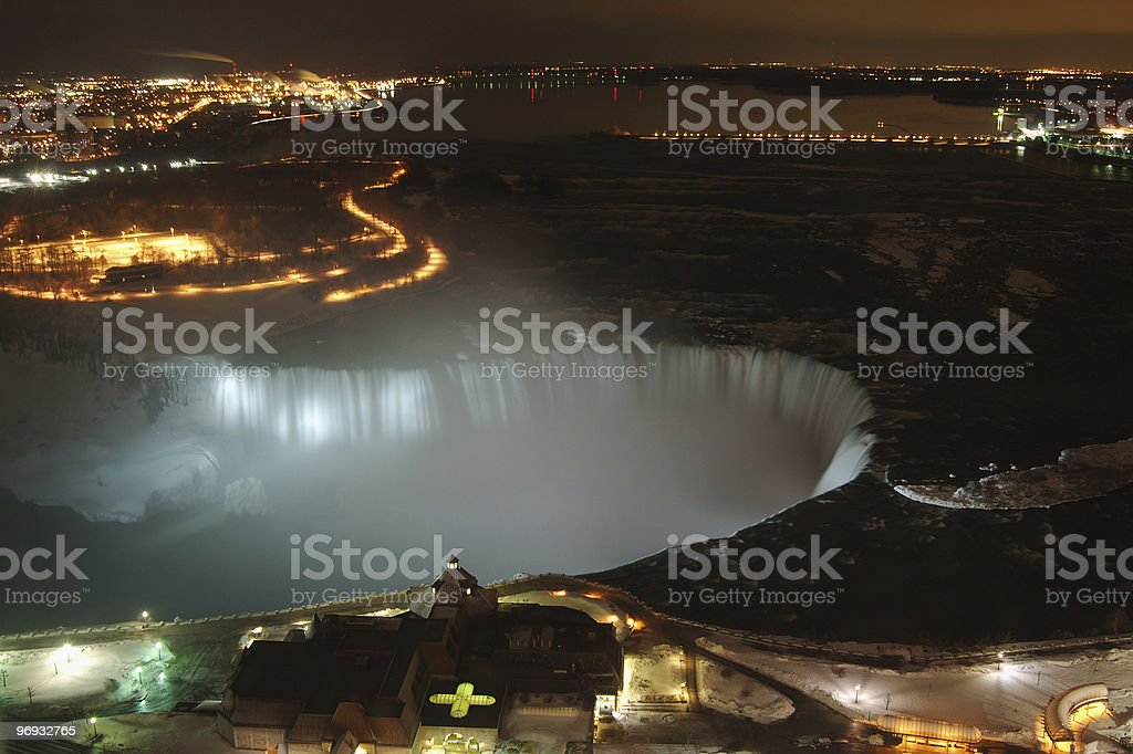 Niagara Falls Lit Up royalty-free stock photo