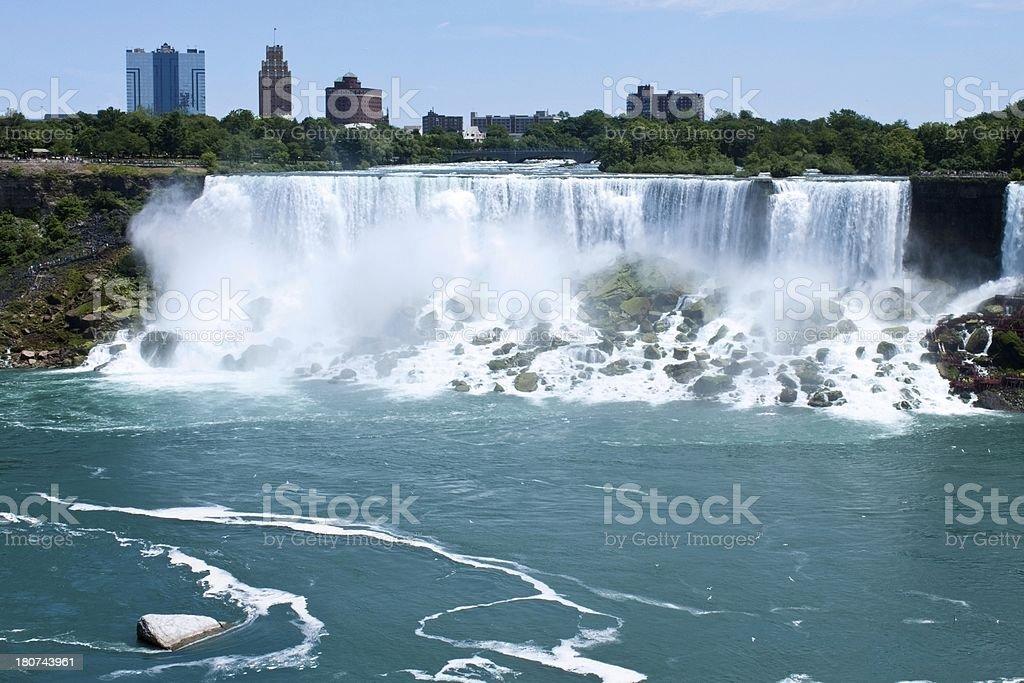 Niagara Falls looking into Buffalo New York stock photo