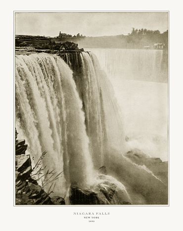 Antique American Photograph: Niagara Falls, New York, United States, 1893: Original edition from my own archives. Copyright has expired on this artwork. Digitally restored.