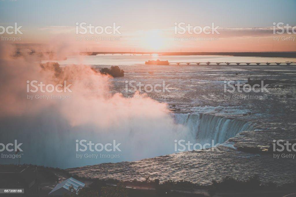 Niagara Falls, Ontario, Canada at Sunrise stock photo