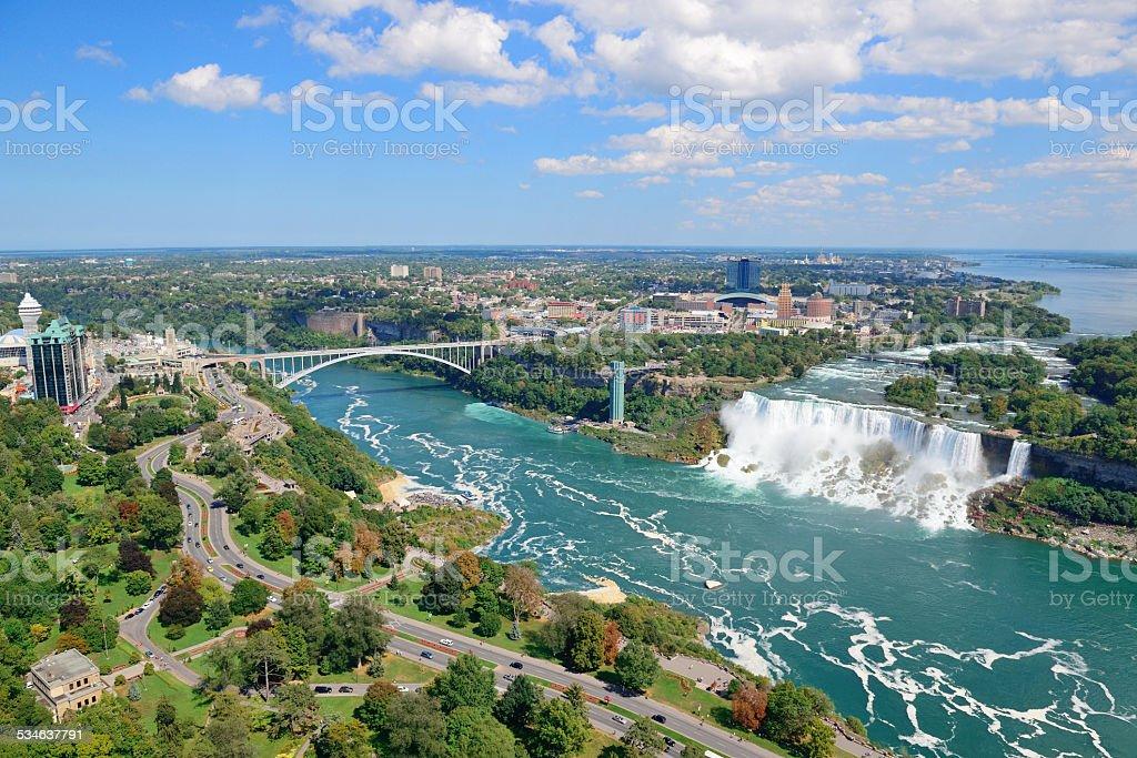 Niagara Falls Panorama stock photo