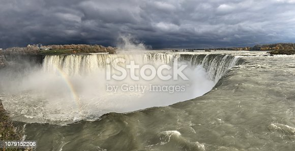 Niagara falls with rainbow in AutumnNiagara falls with rainbow in Autumn
