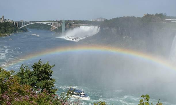 Niagara Falls Rainbow stock photo