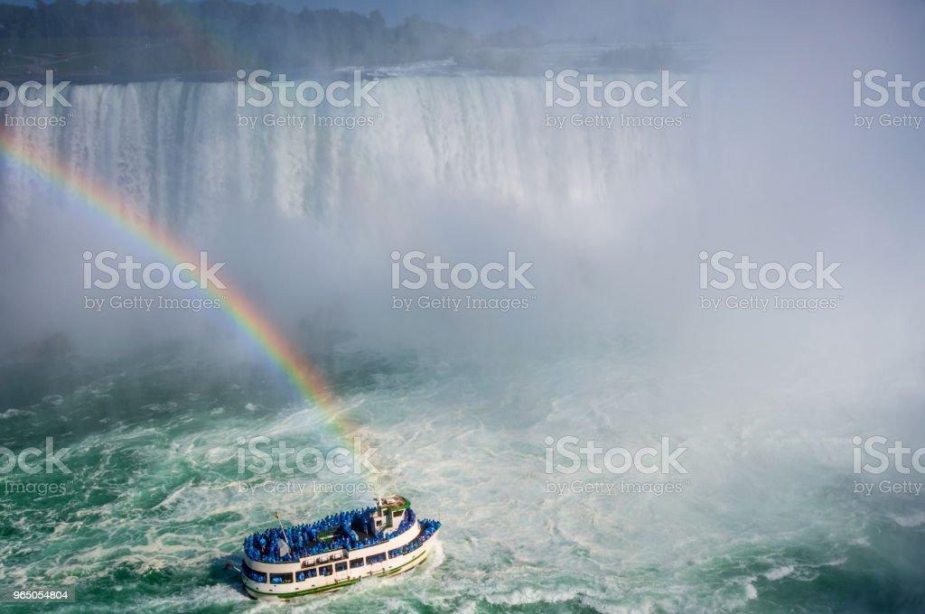 Niagara Falls Rainbow zbiór zdjęć royalty-free