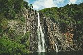 cascade niagara at reunion island on mascarene islands, french overseas territory.