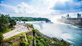 Photo overlooking American Falls at Niagara Falls, NY.