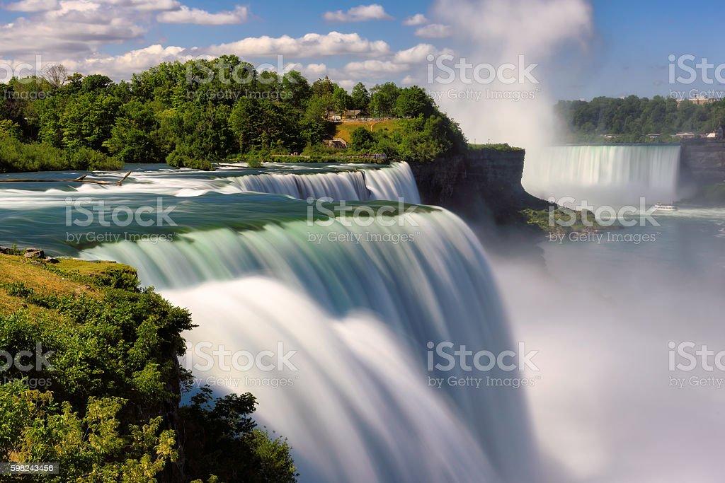 Niagara Falls Summer Time, Long exposure stock photo