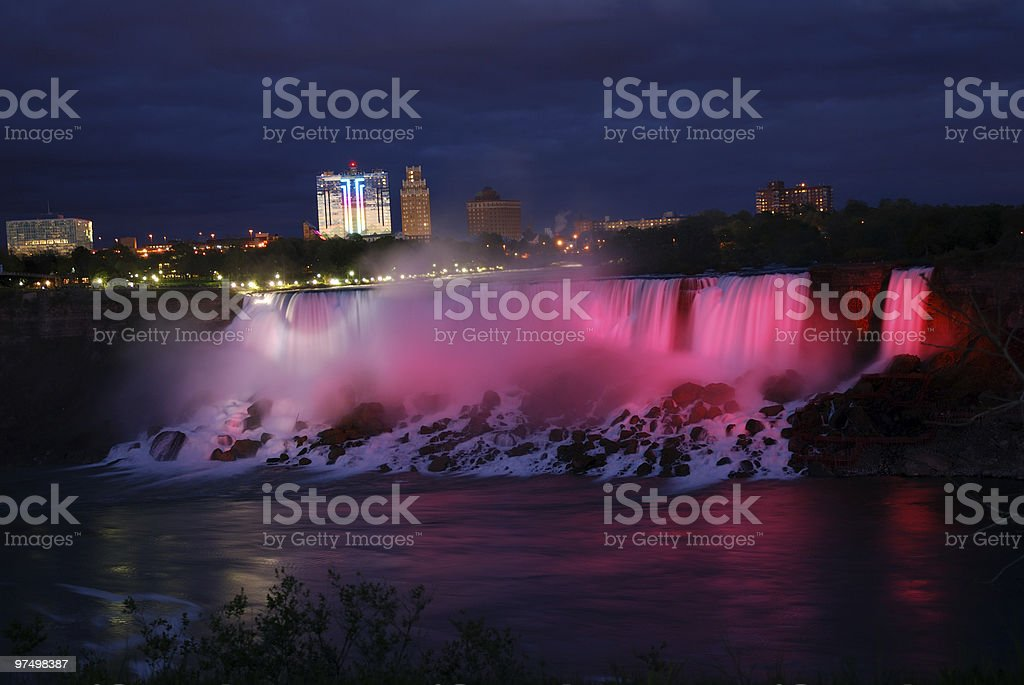 Niagara falls - US side by night royalty-free stock photo
